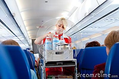 Air hostess at work Editorial Photography