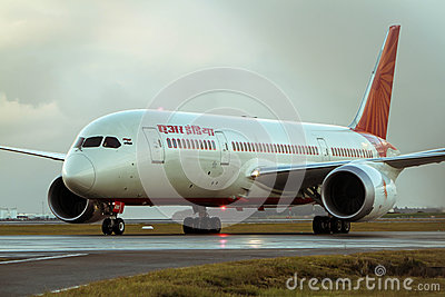 Air India Boeing 787 Dreamliner jet Editorial Stock Image