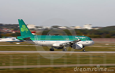 Air Lingus  Airbus A-320 Editorial Stock Image