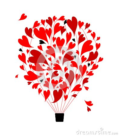 Free Air Love Concept, Balloon With Hearts For Your Stock Image - 28771061