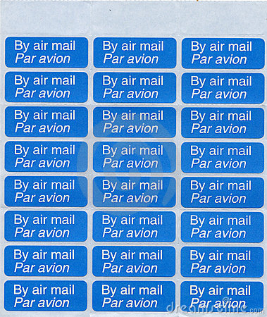 By air mail - par avion stamp sheet