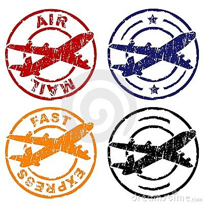 Free Air Mail Stamp Royalty Free Stock Photography - 3068167