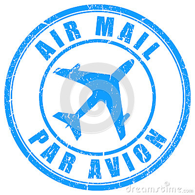 Free Air Mail Stamp Royalty Free Stock Photo - 40177365