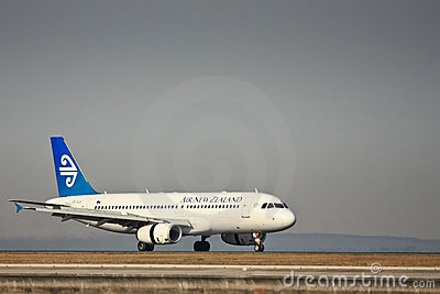 Air New Zealand 737 on runway. Editorial Image