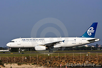 Air New Zealand Airbus A320 Airliner on the runway Editorial Photo
