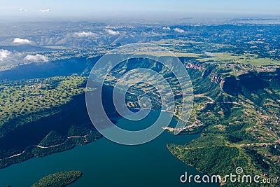 Air Photo Dam Landscape