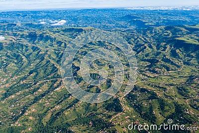Air Landscape Hills Valleys Homes