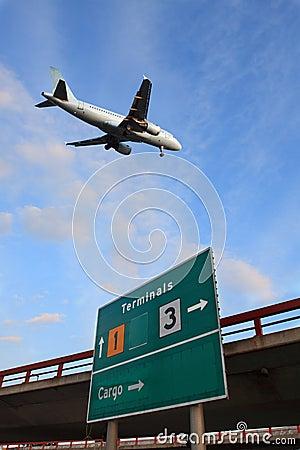 Air plane arrive