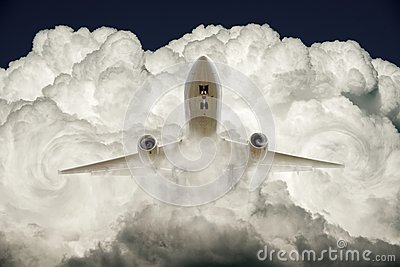 Air plane and cloud