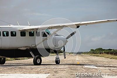 Air plane on runway