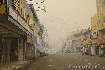 Air Pollution Haze hazard at Malaysia Editorial Photo