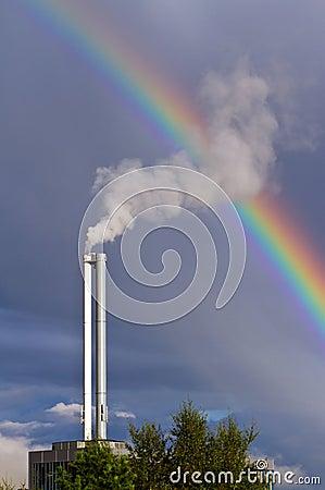 Air pollution and rainbow