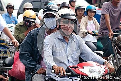 Air pollution in Saigon Editorial Photography
