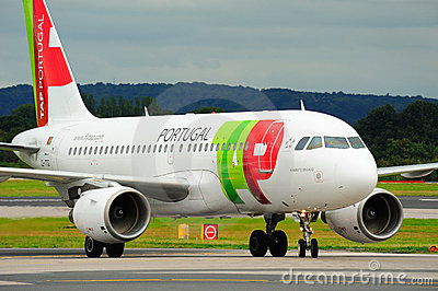Air Portugal Airbus A319 Editorial Stock Photo