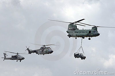 Air Power helicopters Editorial Photography