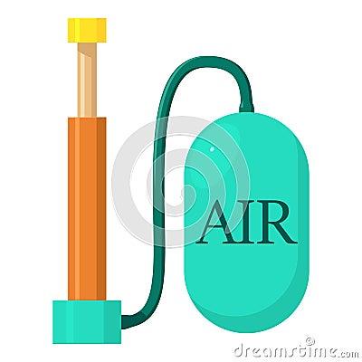 Free Air Pump Icon, Cartoon Style Stock Photos - 95618883