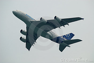 Air Show Airbus A380 Editorial Photography