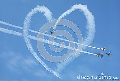 Air show heart loop