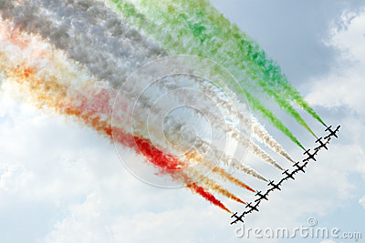 Air show in Moscow (Russia)