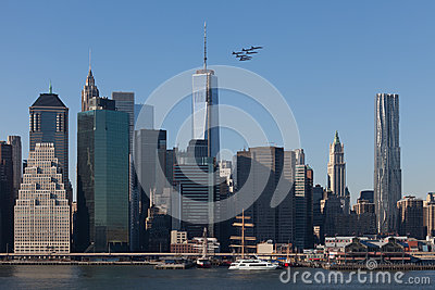Air Show, NYC, Blue Angels Editorial Stock Photo