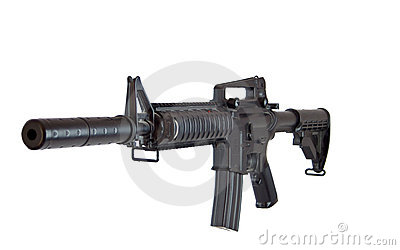 Air soft gun rifle plastic model