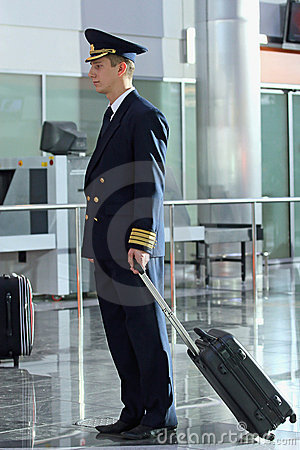 Air steward at  airport