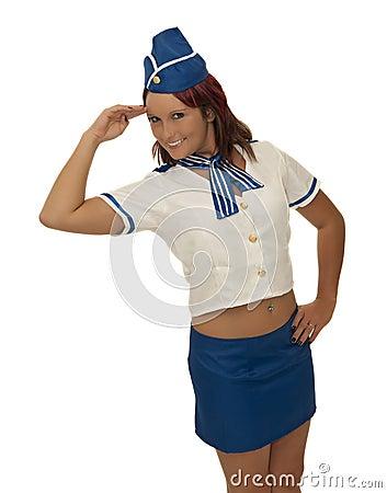 Air steward woman