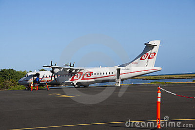 Air Tahiti ATR72 loading Editorial Stock Photo