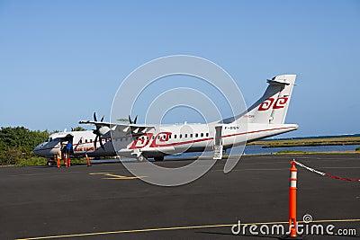 Air Tahiti ATR72 loading Editorial Stock Photo