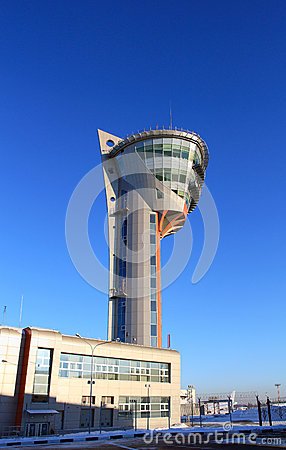 Air traffic control tower of the airport