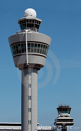 Air traffic control tower at Amsterdam