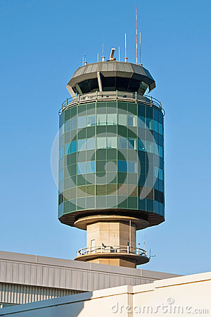 Air traffic control tower in Vancouver YVR airport
