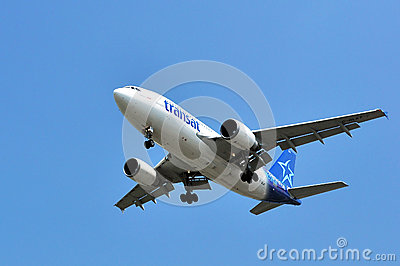 Air Transat flight taking off Editorial Photo