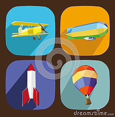 Air transporttation icons