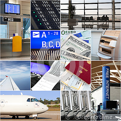 Free Air Travel Collage Stock Photos - 33326973