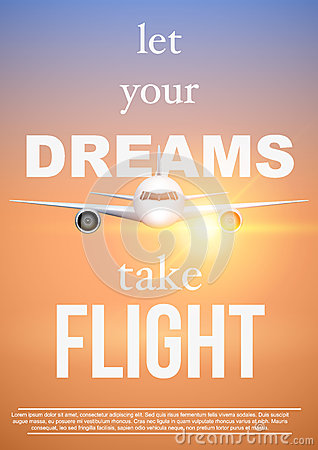 Free Air Travel Quotes Let Your DreamsTake Flight Stock Images - 90708754