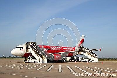 AirAsia Airbus A320 Editorial Stock Photo