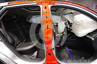 Airbag in the car