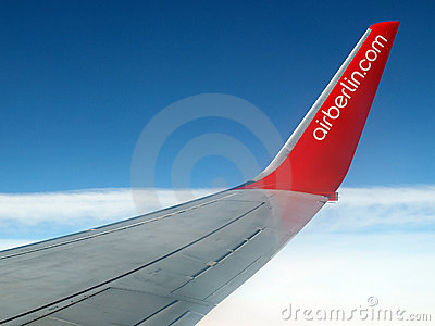 Airberlin airplane in flight Editorial Stock Image