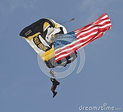 Airborne Editorial Stock Photo