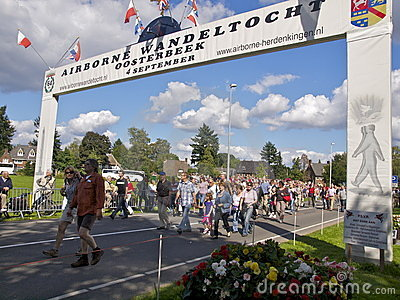 Airborne March Oosterbeek arc Editorial Photography