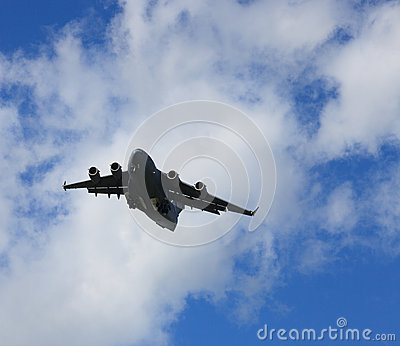 Airborne USAF C17 Cargo Carrier Plane Editorial Stock Photo