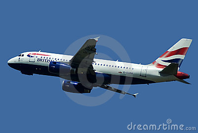 AIRBUS A-319 IN FLIGHT Editorial Photo