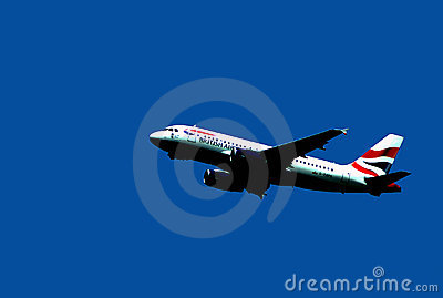 AIRBUS A-319 IN FLIGHT AFTER TAKE OFF Editorial Stock Photo