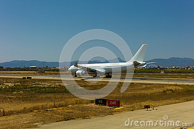 Airbus A 330 is taking off