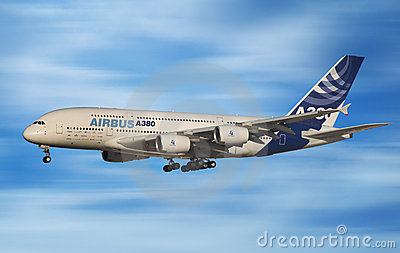 Airbus 380 Editorial Stock Image
