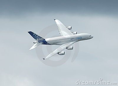 Airbus A 380 flying Editorial Image