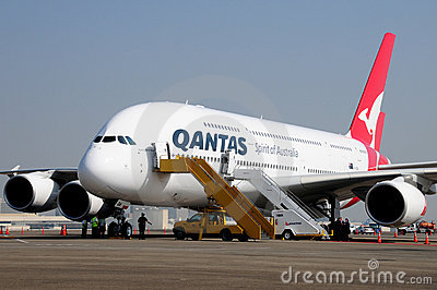 Airbus 380 LAX October 20th 2008 Stop Over Editorial Stock Photo
