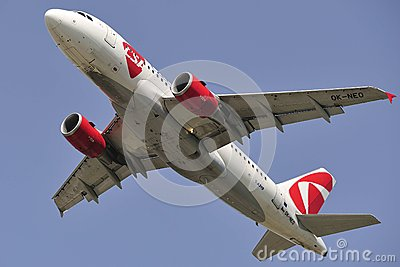 Airbus A319-112 Editorial Stock Image