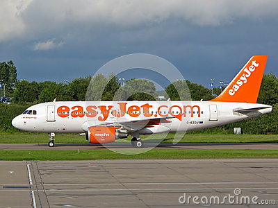 Airbus A319 easyJet Editorial Stock Image